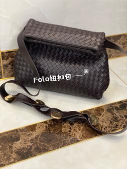 Bottega Veneta The Fold Bag 26cm 642637 Lambskin Leather Spring/Summer 2021 Collection,  Black