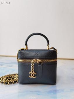 Chanel Miniature Vanity Case Bag 14CM Lambskin Leather Gold Hardware Spring/Summer 2021 Collection, Black