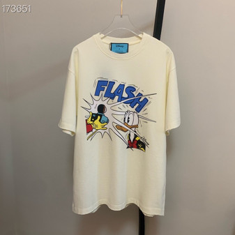 Gucci x Daffy Duck Flash Graphic Oversized T-Shirt Unisex Fall/Winter 2020 Collection, White