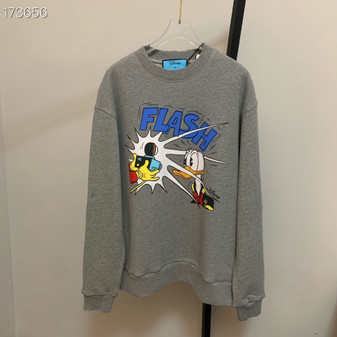 Gucci x Daffy Duck Amor Vivendi Oversized Embroidered Sweatshirt Unisex Fall/Winter 2020 Collection, Grey