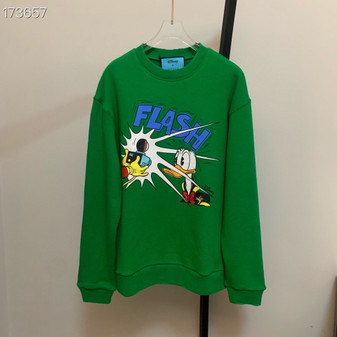Gucci x Daffy Duck Amor Vivendi Oversized Embroidered Sweatshirt Unisex Fall/Winter 2020 Collection, Green