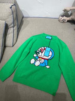 Gucci x Doraemon Women's Wool Sweater Fall/Winter 2020 Collection, Green