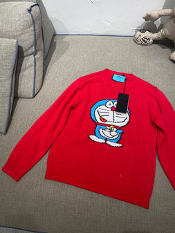 Gucci x Doraemon Women's Wool Sweater Fall/Winter 2020 Collection, Red