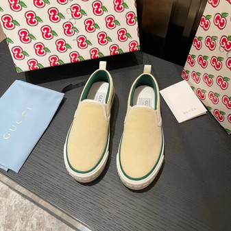 Gucci 1977 Slide On Sneakers Spring/Summer 2021 Collection, Light Yellow