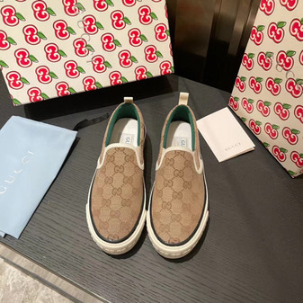 Gucci 1977 Slide On Sneakers Spring/Summer 2021 Collection, Beige