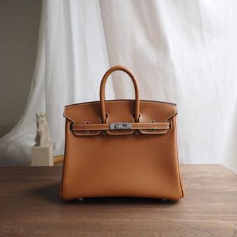 Hermes Birkin  Bag 25cm Togo Leather Fully Handstitched, Gold CK37