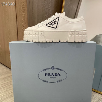 Prada Lug Sole Canvas Sneakers Spring/Summer 2021 Collection, White