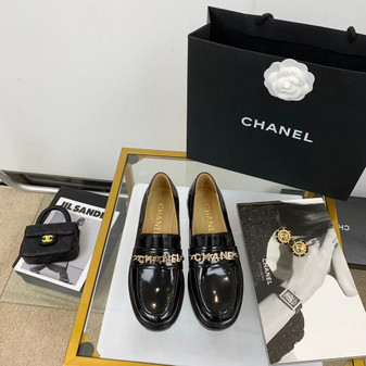 Chanel Charm Logo Platform Loafer Spring/Summer 2021 Collection, Black