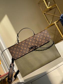 Louis Vuitton Robusto Briefcase 40cm Taiga Leather Spring/Summer  2021 Collection M30591, Khaki Green