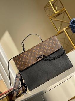 Louis Vuitton Robusto Briefcase 40cm Taiga Leather Spring/Summer  2021 Collection M30591, Noir