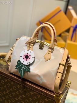Louis Vuitton Speedy Bandoulière Bag 25cm Monogram Canvas Spring/Summer 2021 Collection M45724,  Light Pink