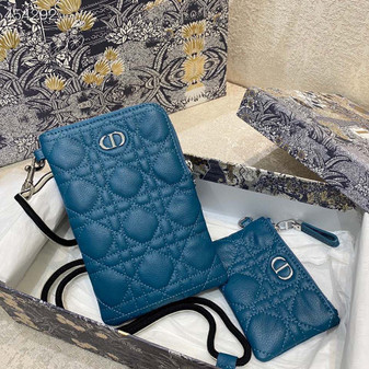 Christian Dior Caro Multifunction Pouch Bag.18cm Calfskin Leather Spring/Summer 2021 Collection, Teal