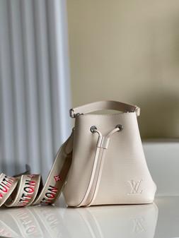 Louis Vuitton NéoNoé BB Bucket Bag 20cm Epi Canvas Leather Spring/Summer 2021 Collection M53610, Cream