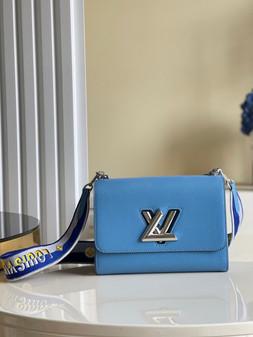 Louis Vuitton Twist MM Bag 23cm Epi Canvas Leather Spring/Summer 2021 Collection M57505, Bleuet