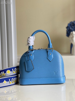 Louis Vuitton Alma BB Bag 24cm Epi Leather Spring/Summer 2021 Collection M57426,  Bleuet