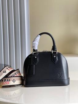 Louis Vuitton Alma BB Bag 24cm Epi Leather Spring/Summer 2021 Collection M57426,  Black