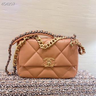 Chanel 19 Flap Bag 26cm Goatskin Leather Spring/Summer 2021, Camel