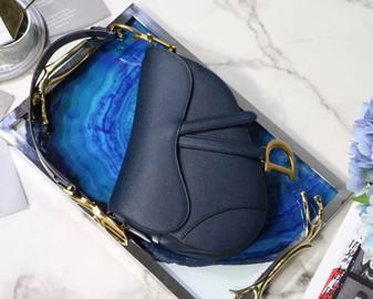 Christian Dior Saddle Shoulder Bag 18cm Grained Calfskin Leather Spring/Summer 2019 Collection, Blue