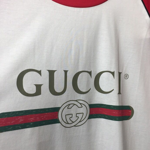 b16dadffc9e8 ... Gucci Guccification Blind For Love Print T-Shirt Mens Cruise 2019  Collection, Red/ ...