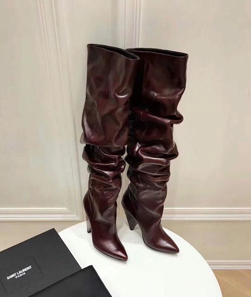 3033771d79f ... YSL Saint Laurent Niki 105 Thigh High Boots Calfskin Leather Fall Winter  2018 Collection