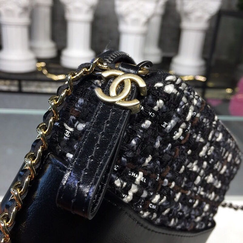 269aee5692c14d ... Chanel Gabrielle Mini Hobo Bag 18cm Gold Hardware Tweed/Lambskin  Leather Fall/Winter Act ...
