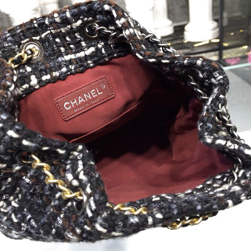 bd553b5ad1b507 ... Chanel Gabrielle Mini Hobo Backpack 20cm Gold Hardware Tweed/Lambskin  Leather Fall/Winter Act ...