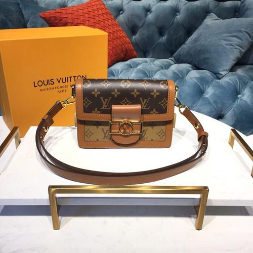 6bfff723b09 Louis Vuitton Mini Dauphine Bag 20cm Monogram and Monogram Reverse Canvas  Spring/Summer 2019 Collection M44580, Brown