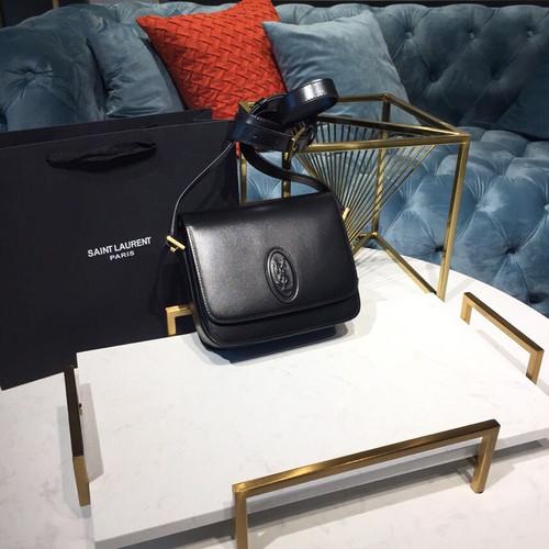 9411a7876c Saint Laurent YSL Le 61 Saddle Bag 18cm Smooth Calfskin Leather Silver  Hardware Spring/Summer 2019 Collection, Black