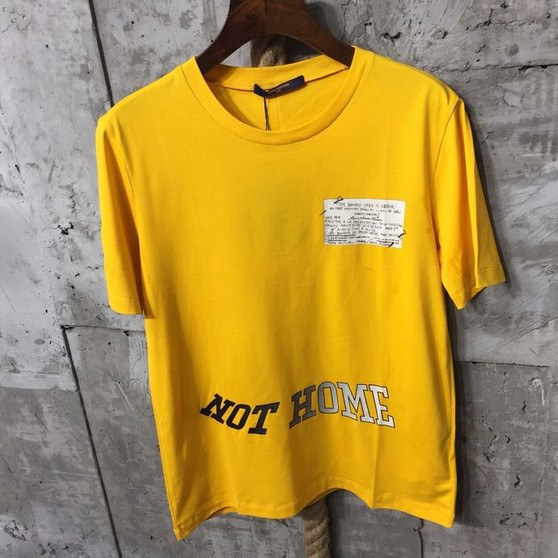 Louis Vuitton x Virgil Abloh June 21st 2018  Not Home Street Style T-Shirt Mens Spring/Summer 2018 Collection, Yellow