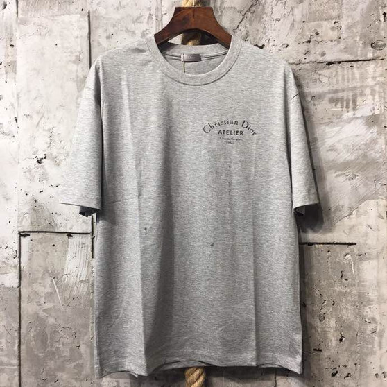 Christian Dior Atelier Print T-Shirt Mens Spring/Summer 2018 Collection, Grey