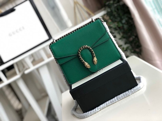 Gucci Mini Dionysus Shoulder Bag 20cm Calfskin Leather Fall/Winter 2019 Collection, Green
