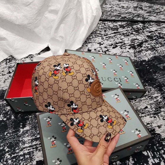 Gucci x Disney Mickey Mouse Baseball Hat Spring/Summer 2020 Collection, Brown