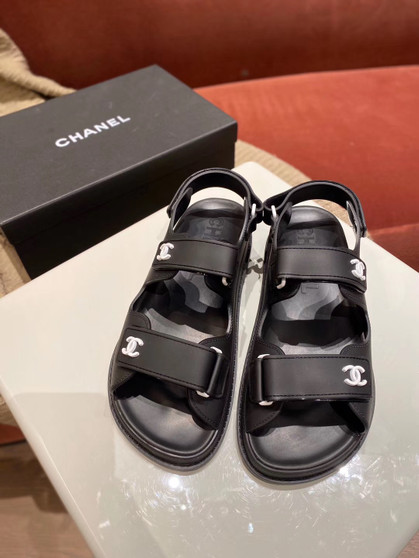 Chanel PVC Velcro Sandals Spring/Summer 2020 Act 1 Collection, Black