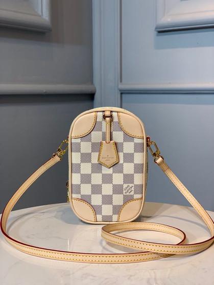 Louis Vuitton Neokapi Vertical Pouch 18cm Damier Azur Canvas Spring/Summer 2020 Collection N60360, Beige