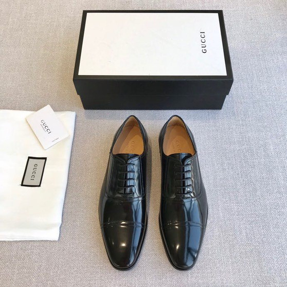 Gucci Lace Up Mens Dress Shoes Patent Calfskin Leather Spring/Summer 2020 Collection, Black