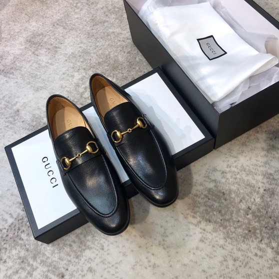 Gucci Horsebit Brixton Loafers Calfskin Leather Spring/Summer 2020 Collection, Black