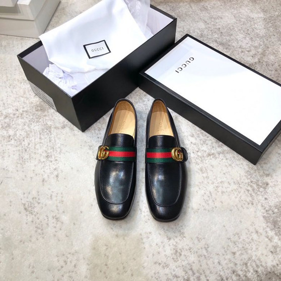 Gucci Donnie Web Loafers Calfskin Leather Spring/Summer 2020 Collection, Black