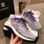 Chanel Mesh and Fabric Casual Training Sneakers G34763 Spring/Summer 2019 Collection, Purple