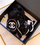 Chanel CC Logo Cashmere Scarf 200cm Fall/Winter 2019 Collection, Black/White