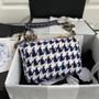 Chanel 19 Flap Bag 26cm Tweed/Goatskin Leather Spring/Summer 2021 Collection,  Blue Multicolor