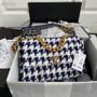 Chanel 19 Flap Bag 30cm Tweed/Goatskin Leather Spring/Summer 2021 Collection,  Blue Multicolor