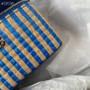Chanel Raffia Vanity Case Bag 12cm AP1999 Jute Thread/Lambskin Leather Spring/Summer 2021 Collection, Blue