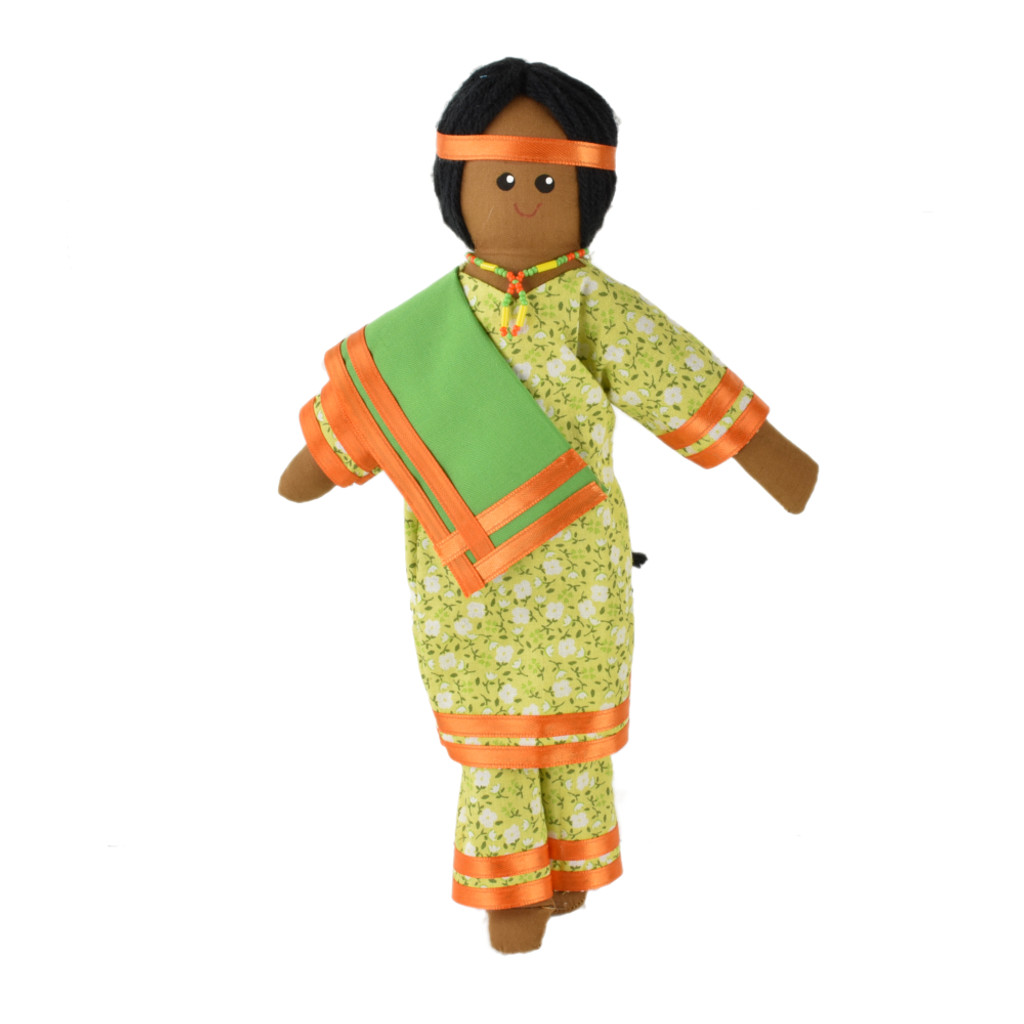 Native Woman Doll with Shawl - Item #52-0013