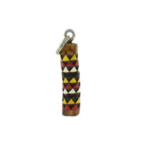 Carved Keychain with Triangle Pattern by Jeremy Violette (Penobscot).