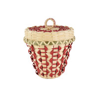 Butch Jacobs's Fancy Red Arrow Basket by Butch Jacobs (Passamaquoddy).