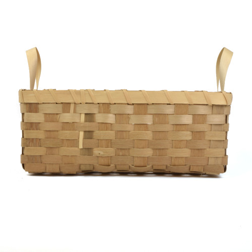 Square Basket with Handles by Eldon Hanning (Micmac).