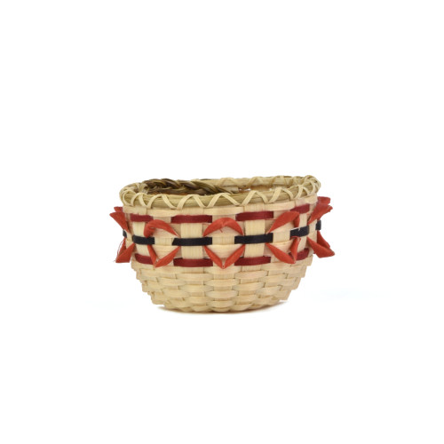 Miniature Cardinal Bird Beak Basket by Pam Cunningham (Penobscot).