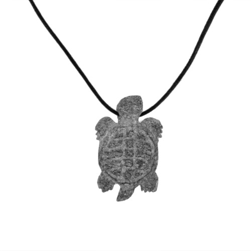 Soapstone Turtle Necklace by Tim Shay (Penobscot).