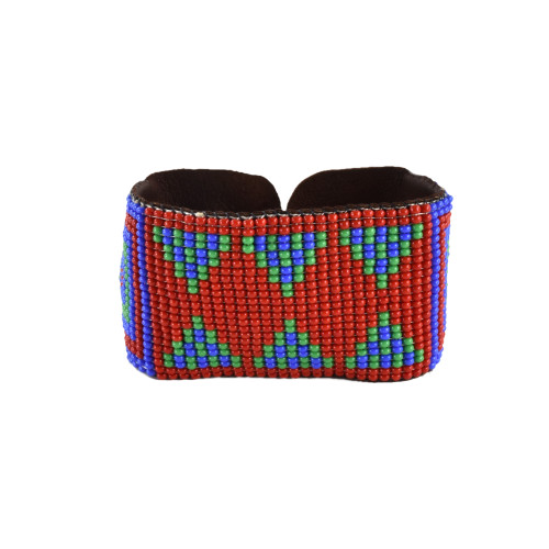 Beaded Geometric Cuff by Martha Newell (Penobscot).