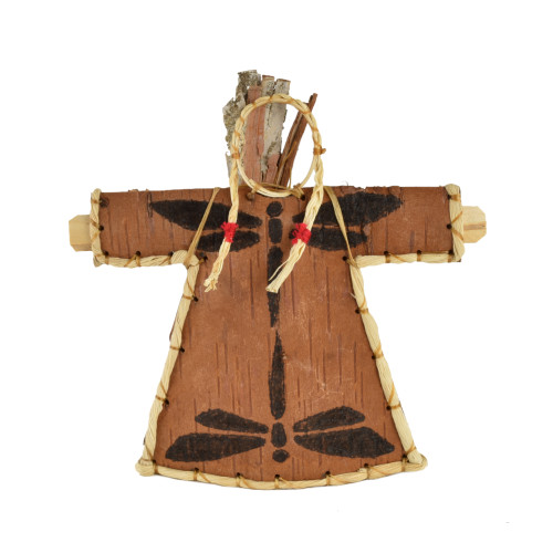 Dragonfly Woman Birchbark Effigy by Aron Griffith (Maliseet).